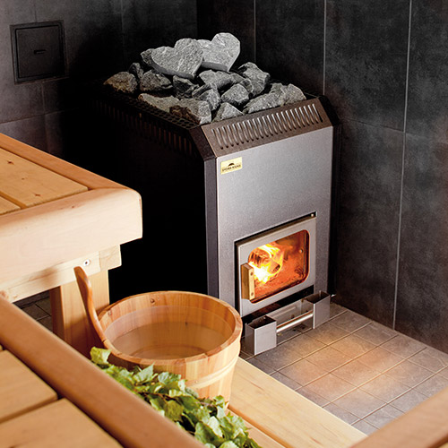 Sauna lämpenee