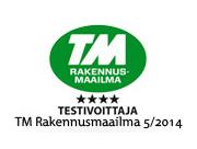 TM Rakennusmaailma testivoittaja